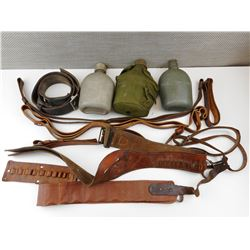 ASSORTED BELTS, SLINGS & CANTEENS