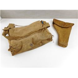 ASSORTED WWII CANADIAN MILITARY BAGS AND HOLSTERS