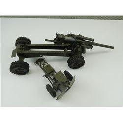 ASSORTED TOY MILITARY ARTILLARY GUNS