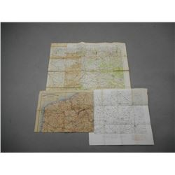 ASSORTED WWI BELGIAN AND FRENCH MAPS