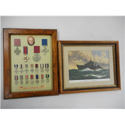 FRAMED MILITARY PRINT PICTURES