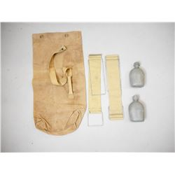 LARGE MILITARY SACK, STRAPS & CANTEENS