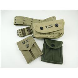 REPRODUCTION US MILITARY ASSORTED WEBBING AND POUCHES