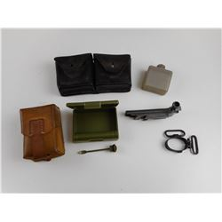 ASSORTED MILITARY POUCHES AND PARTS