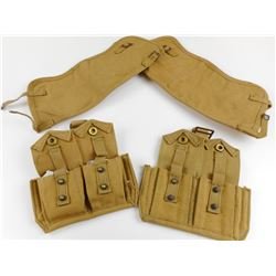 WWII CANADIAN ASSORTED P37 WEBBING