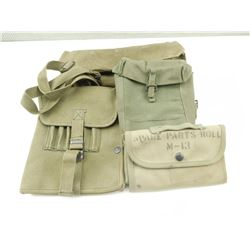 ASSORTED MILITARY WEBBING AND POUCHES