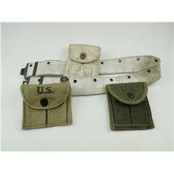 ASSORTED US MILITARY WEBBING POUCHES