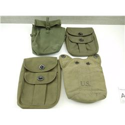 ASSORTED WEBBING POUCHES