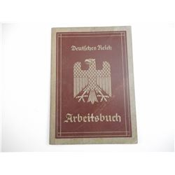 PRE WWII GERMAN EMPLOYMENT RECORD BOOKLET