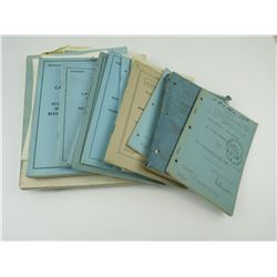 ASSORTED CANADIAN ARMY TRAINING AND INFANTRY TRAINING BOOKS