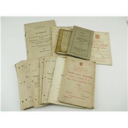 ASSORTED CANADIAN SMALL ARMS TRAINING BOOK