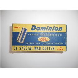 DOMINION 38 SPECIAL WAD CUTTER AMMO