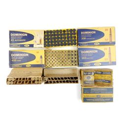 DOMINION 30-30 WIN AMMO, 45 BRASS ASSORTED