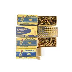 9MM LUGER AMMO, BRASS, COLLECTOR BOXES