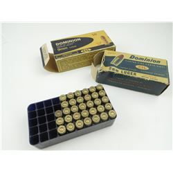 DOMINION 9MM LUGER AMMO, VINTAGE BOXES