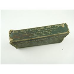 REMINGTON .401 SELF LOADING AMMO