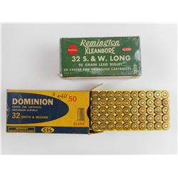 32 S&W BLANKS & 32 S&W LONG AMMO