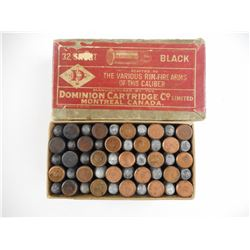 DOMINION 32 SHORT BLACK POWDER AMMO