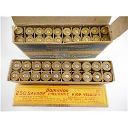 CIL/DOMINION 250 SAVAGE AMMO