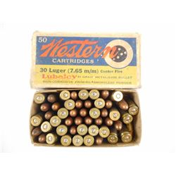 WESTERN 30 LUGER (7.75MM) LUBALOY AMMO