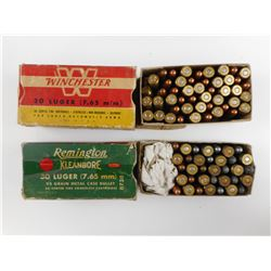 30 LUGER ASSORTED AMMO