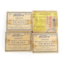 ANTIQUE PRIMERS INCL. 8 1/2 & 5 1/2