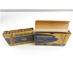 DOMINION 6.5MM MANN-SCHOEN. AMMO