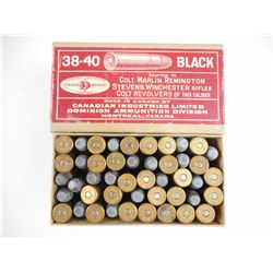 CIL 38-40 BLACK POWDER AMMO