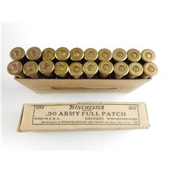 WINCHESTER .30 ARMY FULL PATCH AMMO