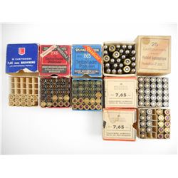 7.65 MM ASSORTED AMMO