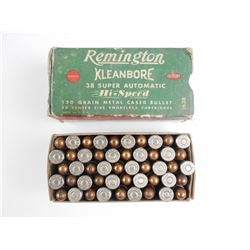 REMINGTON 38 SUPER AUTO AMMO