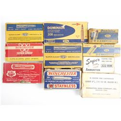 LONG RIFLE COLLECTIBLE AMMO, ASSORTED