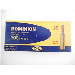 DOMINION 300 SAVAGE AMMO