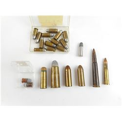 44-40, 35 S&W, 45 COLT, 32 RF ASSORTED AMMO