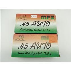 MFS .45 AUTO AMMO