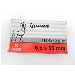 IGMAN 6.5 X 55MM AMMO