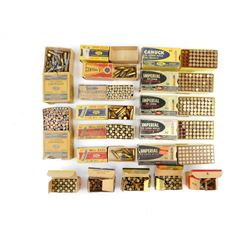 22 ASSORTED AMMO, BLANKS, EMPTY COLLECTOR BOXES