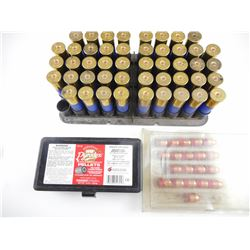 12 GA SHOTGUN SHELL, PRIMED IN TRAY, 54 CAL. BULLETS, PELLETS