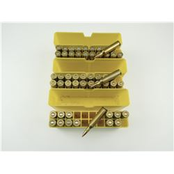 22-250 ASSORTED AMMO IN PLASTIC AMMO CASES