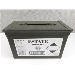 ESTATE 12 GAUGE SHOTSHELLS, IN METAL AMMO TIN