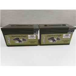 AMERICAN EAGLE 5.56 X 45MM NATO AMMO IN PLASTIC CASE