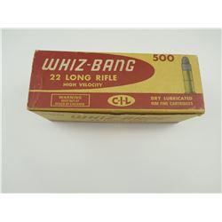 WHIZ-BANG 22 LONG RIFLE AMMO