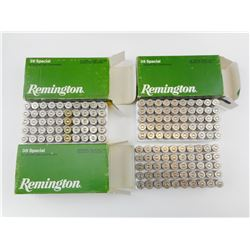 REMINGTON 38 SPECIAL WADCUTTER AMMO, BRASS CASES