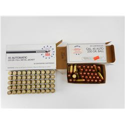 45 AUTO ASSORTED AMMO
