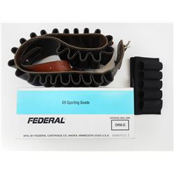 "FEDERAL 12 GAUGE 2 3/4"" BUCKSHOT, ALEATHER LIKE BELT AND SIDE KICK"