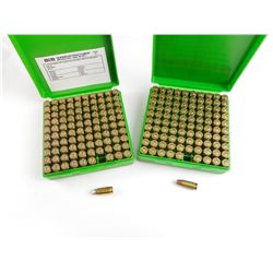 9MM LUGER AMMO  IN PLASTIC AMMO CASES
