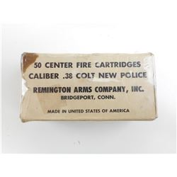 REMINGTON ARMS 38 COLT NEW POLICE AMMO