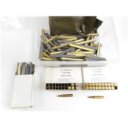 5.56MM BALL AMMO, LOT OF STRIPPER CLIPS