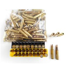 222 REM ASSORTED AMMO, BRASS