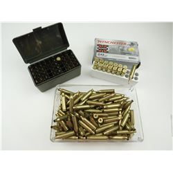 243 WIN ASSORTED AMMO, BRASS CASES